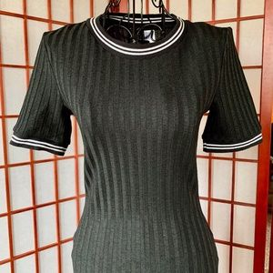 H&M Divided Ribbed Knit Bodycon NWOT